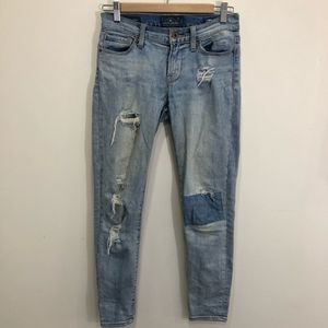 Lucky Brand Brooke Ankle Skinny Distressed Jeans